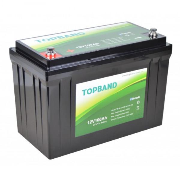 Topband Litium 12V 100Ah Bluetooth TB12100B