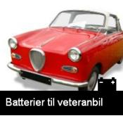 Information Veteranbatterier 40-50-60-70 tals fordon